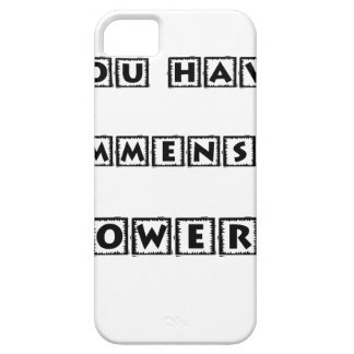you have  immense powers case for the iPhone 5