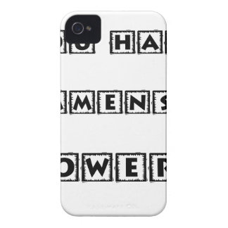 you have  immense powers Case-Mate iPhone 4 case