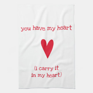 You have my heart | Poem by E.E. Cummings Tea Towel