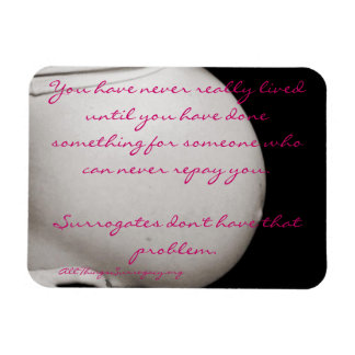 """You have never really lived..."" Surrogacy Magnet"