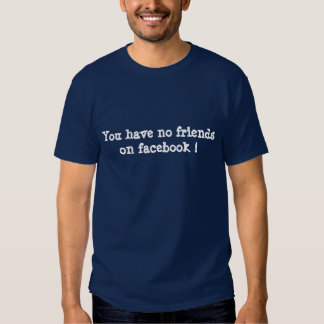 You have no friends on facebook ! t-shirt