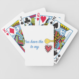 You Have the Key to My Heart Bicycle Playing Cards