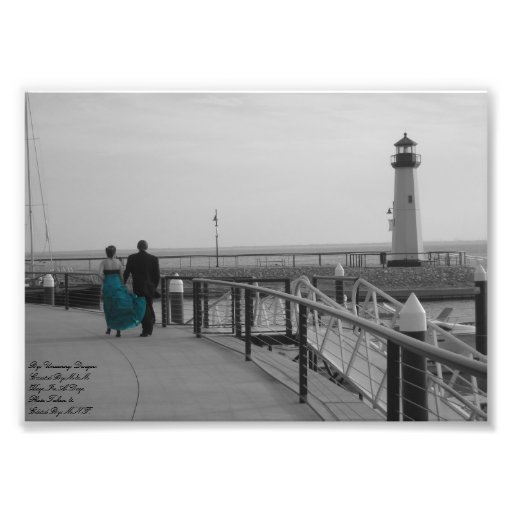You Held My Hand Lighthouse Photograph Black and W