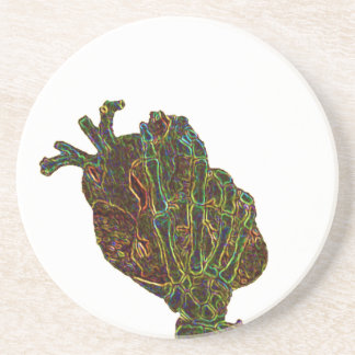 you hold my heart in your hands 2 drink coasters