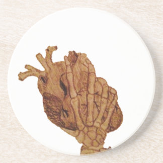 you hold my heart in your hands coaster