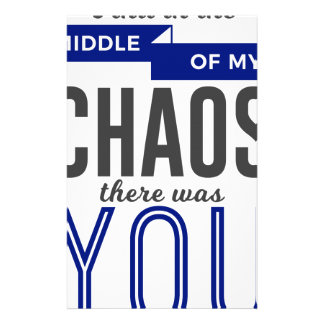 You In The Chaos Stationery