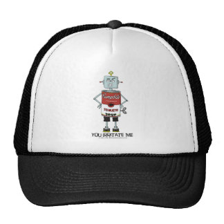"""YOU IRRITATE ME"" Soup Can Robot Hat"