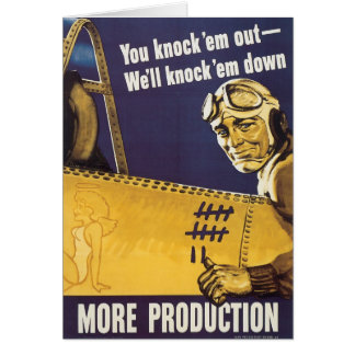 You Knock 'Em Out Greeting Card