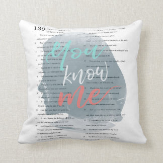 You Know Me, Psalm 139 Female Silhouette Throw Pillow