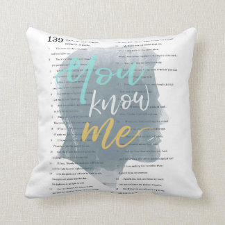 You Know Me, Psalm 139, Male Silhouette Throw Pillow