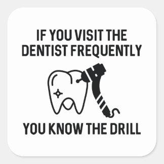 You Know The Drill Square Sticker