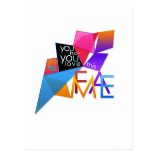 (You Know You Love This) FAME Postcard
