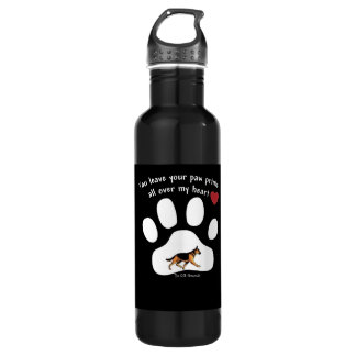 YOU LEAVE YOUR PAW PRINTS ALL OVER MY HEART! 710 ML WATER BOTTLE