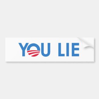 You Lie bumper sticker blue