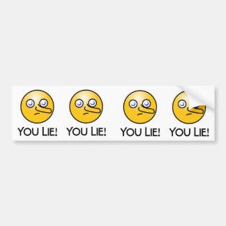 You Lie Emoticon Bumper Sticker