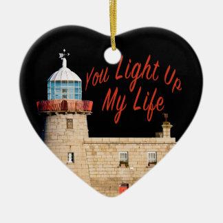 You Light Up My Life Ceramic Heart Decoration