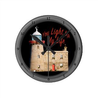 You Light Up My Life Round Clock
