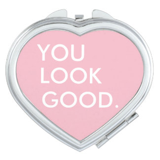 You look good funny hipster humor quote saying travel mirror
