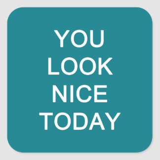 You Look Nice Today Square Sticker