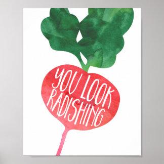 You Look Radishing | Veggie Pun Kitchen Poster