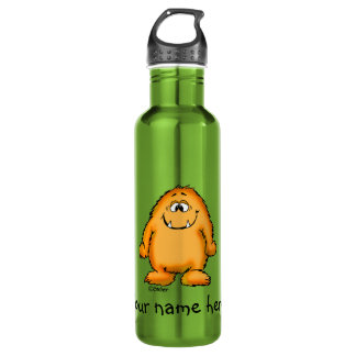 You look yummy - cute yellow monster by send2smile 710 ml water bottle
