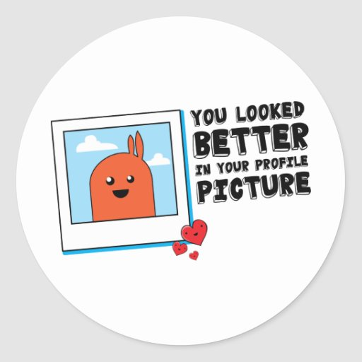 You Looked Better in Your Dating Profile Picture Round Stickers