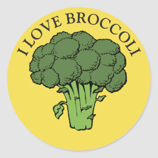 You love broccoli? classic round sticker