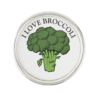You love broccoli? lapel pin