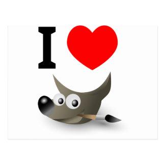 You love GIMP? Show it! Postcard