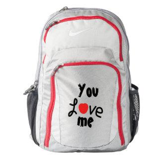 you love me  nike backback backpack