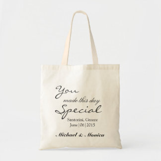You Made this Day Wedding Hotel Gift Tote Bag