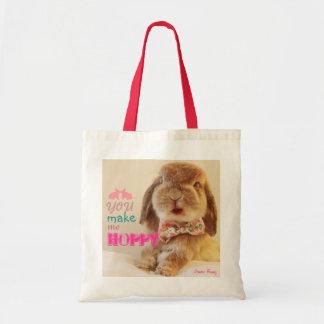 You make me hoppy budget tote bag