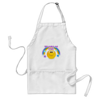 you make me smile adult apron