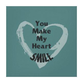 You Make Me Smile Gallery Wrap Canvas