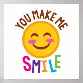 You Make Me Smile Emoji Poster