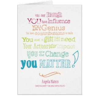 You Matter Manifesto (Rainbow) Card