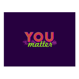 You Matter (on dark) Postcard