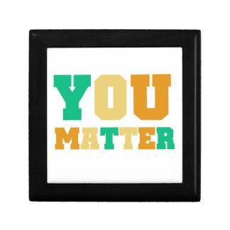 You Matter Small Square Gift Box