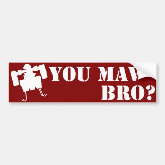 You MAV Bro? Bumper Sticker in Red