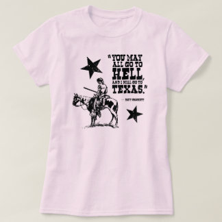 You may all go to hell... ladies T-shirt