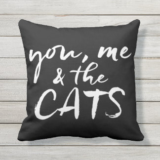 You, me and the cats cushion