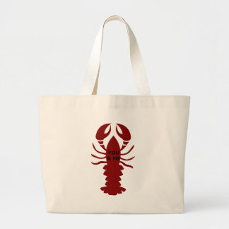 You & Me are Lobsters Large Tote Bag