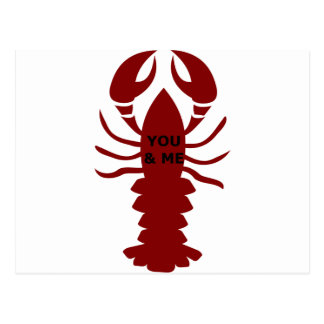 You & Me are Lobsters Postcard