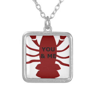 You & Me are Lobsters Silver Plated Necklace