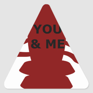 You & Me are Lobsters Triangle Sticker