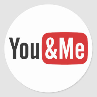 You&Me Classic Round Sticker