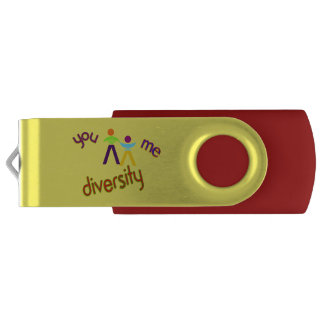 You Me Diversity Add Your Logo Custom Flash Drive Swivel USB 2.0 Flash Drive