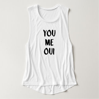 You Me Oui   French Typography Singlet
