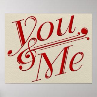 You & Me Poster Design