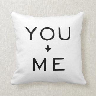 You + Me Throw Pillow